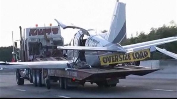 [MI] Wreckage of Plane on Turnpike Removed