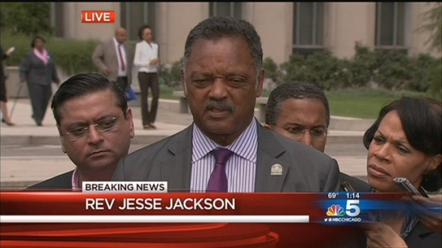 [CHI] Rev. Jesse Jackson Reacts To Son's Sentence