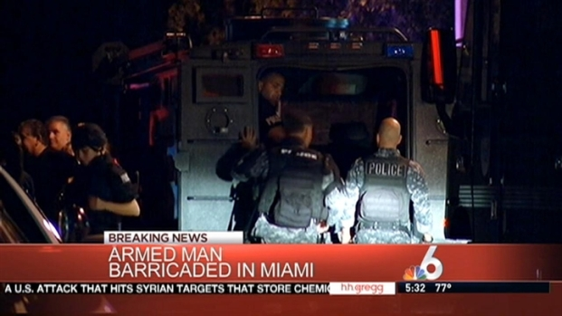 [MI] SWAT Standoff in Miami After Armed Man Barricades Himself