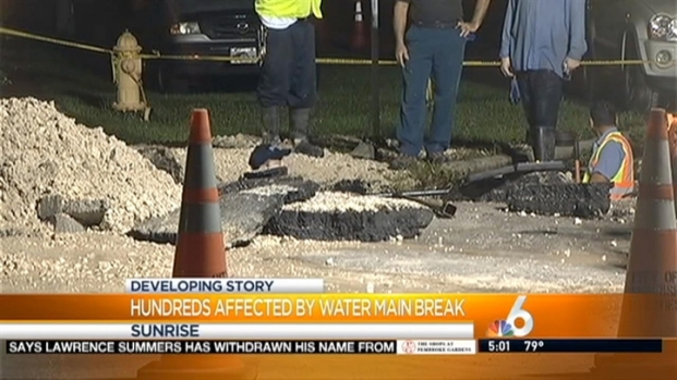 [MI] Water Main Break in Sunrise