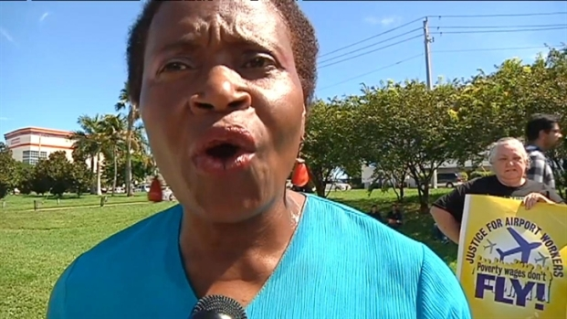 [MI] RAW VIDEO: FLL Airport Workers Protest Low Wages