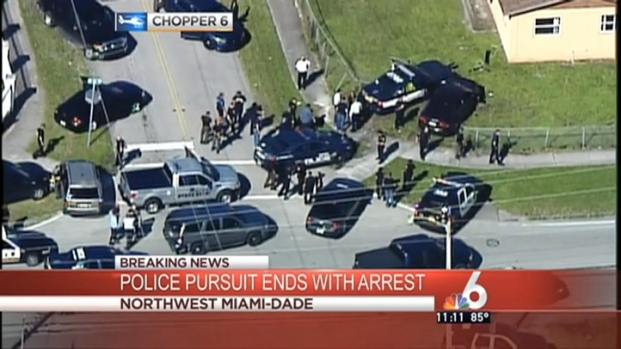 [MI] Hialeah Robbery Suspect in Custody After Chase Ends