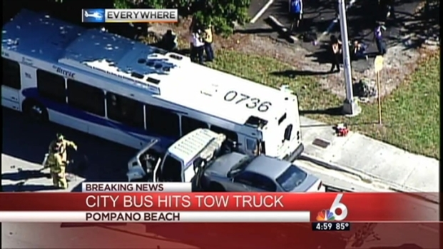 [MI] 26 Injured in Bus, Tow Truck Crash in Pompano Beach
