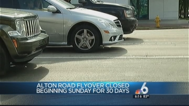 [MI] Alton Road Flyover to Miami Beach to Close Until Mid-August
