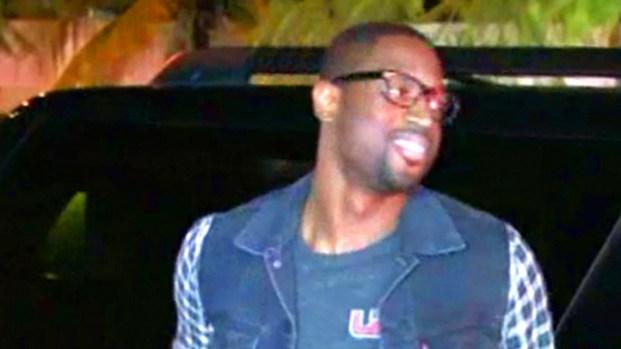 [MI] Miami Heat 'Big 3' Arrive at SoBe Club With Akon