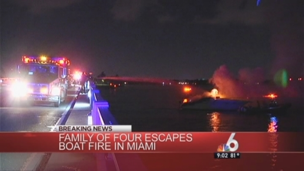 [MI] Family of Four Escapes Burning Boat in Bay Harbor