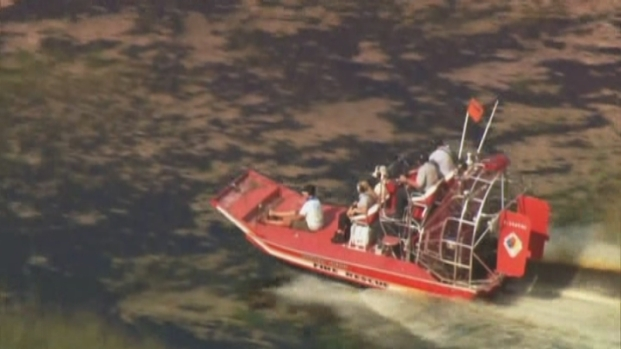 [MI] RAW VIDEO: Father and Son Rescued From Everglades