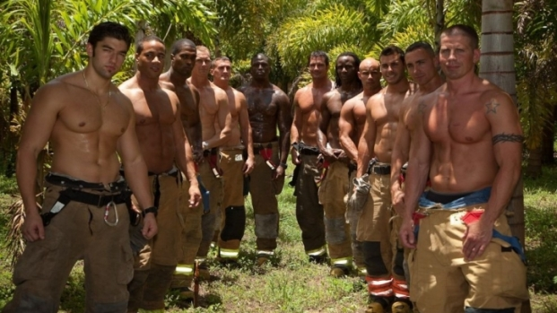 South Florida Firefighters Put on a Show in Calendar Competition