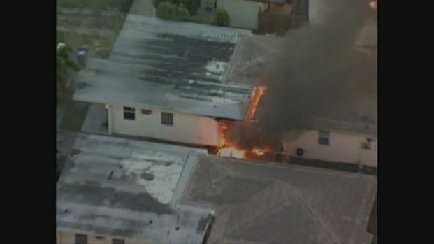 [MI] Aerial Footage of the Fire in Fort Lauderdale