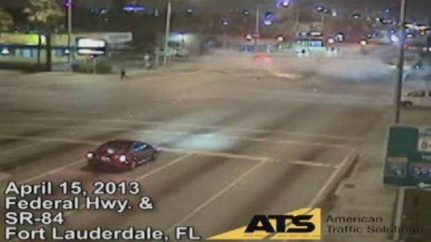 [MI] RAW VIDEO: Pedestrian Nearly Killed By Red Light Runner in Fort Lauderdale