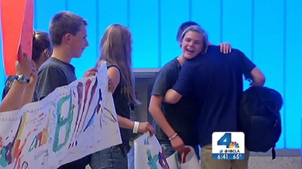 [LA] Emotional SoCal Homecoming for Special Needs Teen Who Made Mt. Everest History