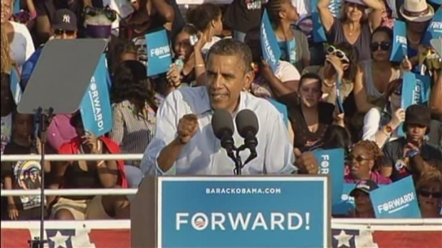 [MI] President Barack Obama Held Rally in Hollywood Sunday, Two Days Before Election Day