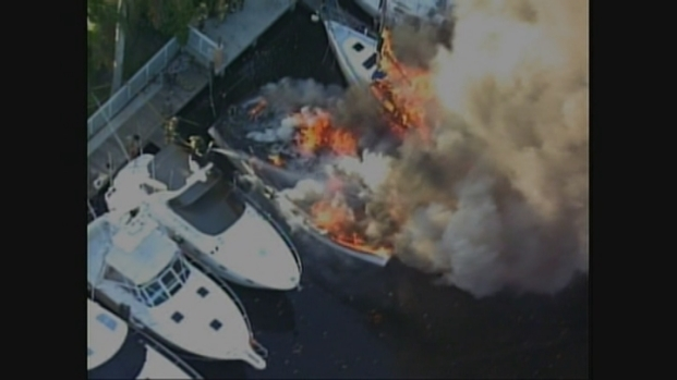 [MI] RAW VIDEO: Boats on Fire in Fort Lauderdale