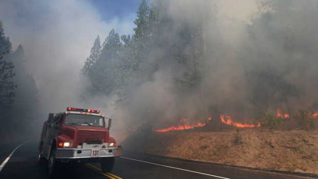 [BAY] Firefighters Hope to Gain Ground on Rim Fire Near Yosemite, Now 20% Contained
