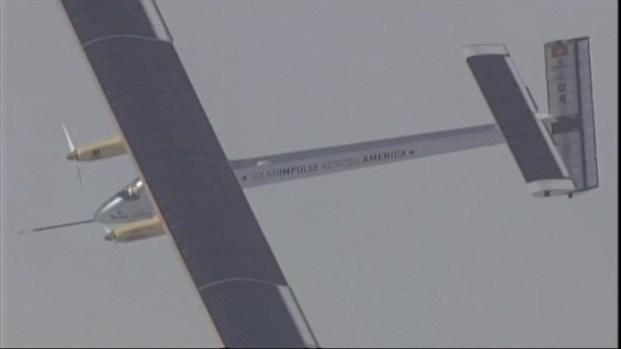 [BAY] Raw Video: Solar Plane Flies Over Bay Area