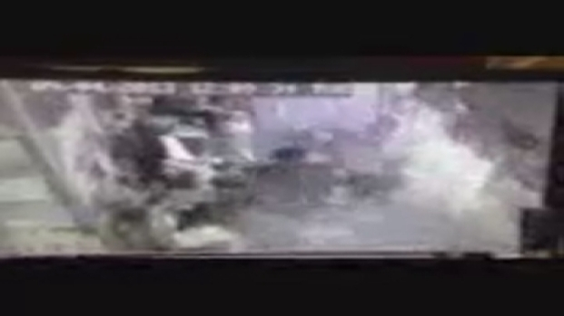[MI] Surveillance Video Showing the Aftermath of a Vehicle Crashing Into a Restaurant