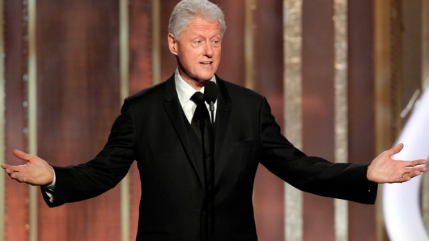 "[LA] Bill Clinton at Globes ""Unforgettable,"" Says Daniel Day-Lewis"