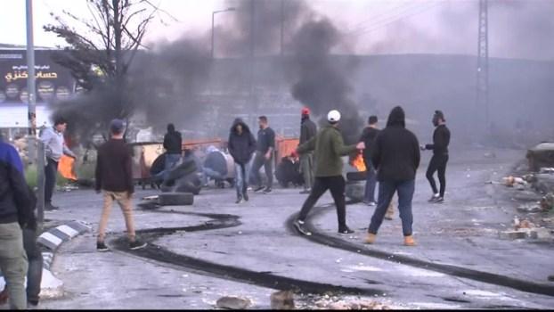Palestinians Protest While Netanyahu Hails Trump