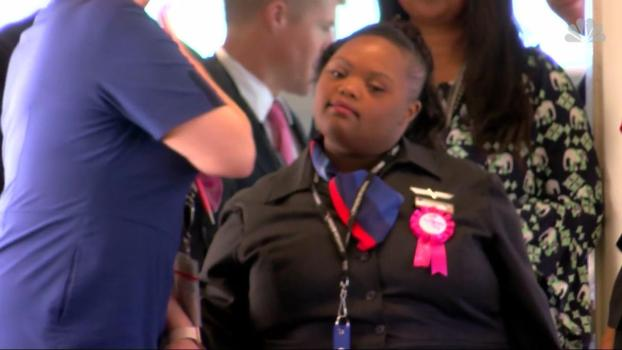 American Airlines Inducts First Flight Attendant With Special-Needs