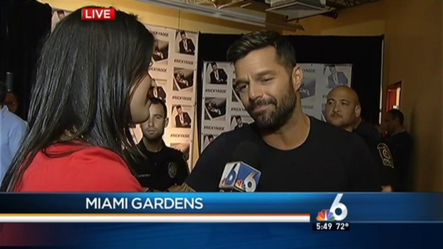 Ricky Martin Speaks With NBC 6