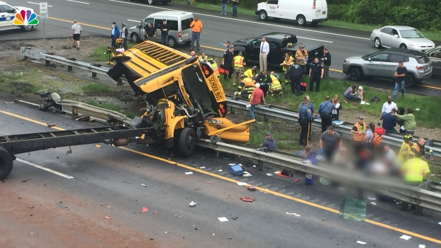 School Bus, Dump Truck Collide on NJ Highway
