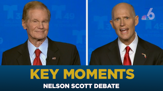 [MI] Key Moments From Scott, Nelson First Florida Senate Debate