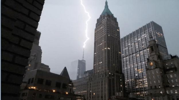 Lightning Strikes 1 World Trade Center
