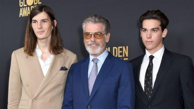 Pierce Brosnan Sons Paris & Dylan Golden Globes Ambassadors