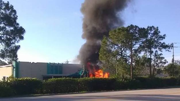 Plane Crashes Into Day Care Building in Fort Myers