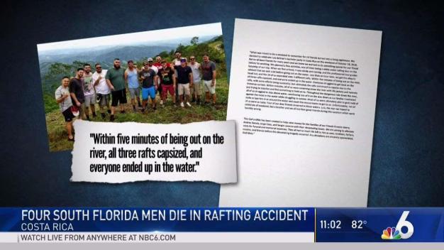 4 Miami Men Die in Costa Rica Rafting Accident