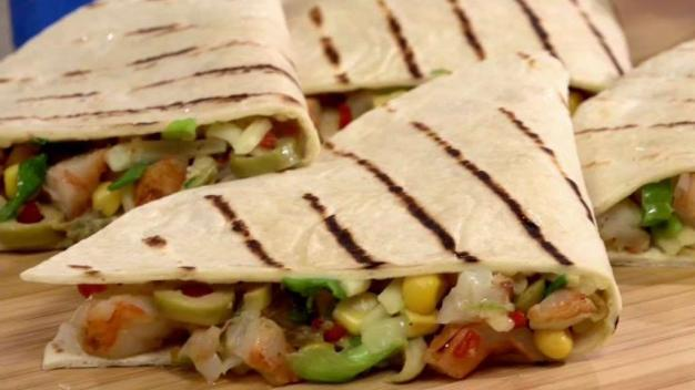 Back to School Dishes: Spicy Shrimp Quesadillas