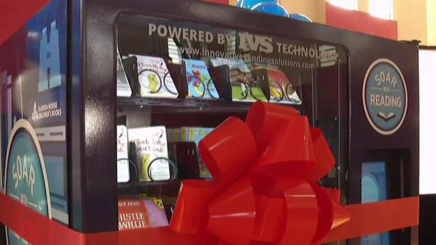Vending Machines Bring Free Books to Broward Kids