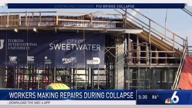 Bridge Collapse Came During Repair Efforts