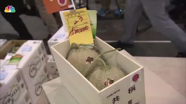 Two Japanese Melons Sell For About $13,500