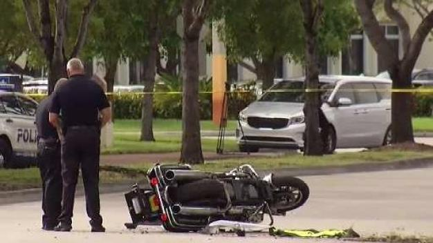 Doral Police Motorman Injured in Crash