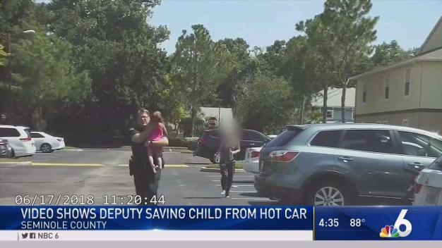 Dramatic Video Shows Florida Deputy Saving Girl From Hot Car