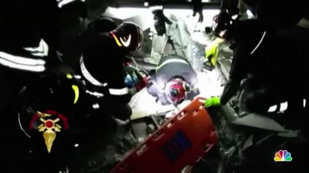 Firefighters Rescue 7 Month Old Baby from Earthquake Rubble