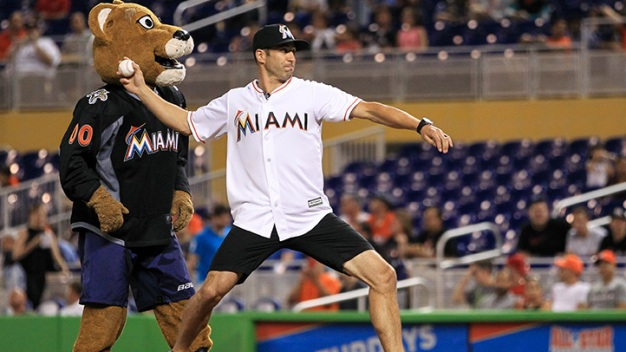 Panthers Visit Marlins for Pregame Festivities