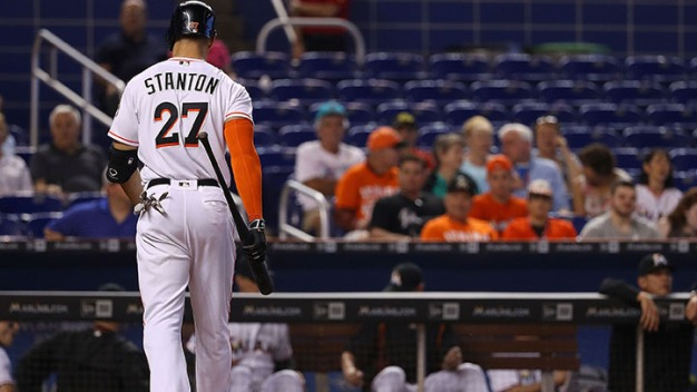 Marlins' Stanton Homers in Loss to Rays
