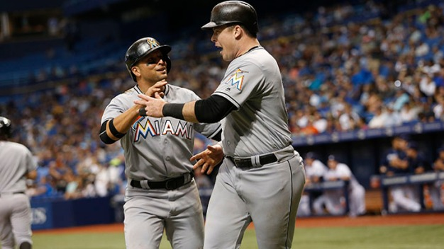 Marlins Tally 13 Hits to Top Rays