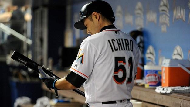 Marlins' Ichiro Closes in on Historic Hit