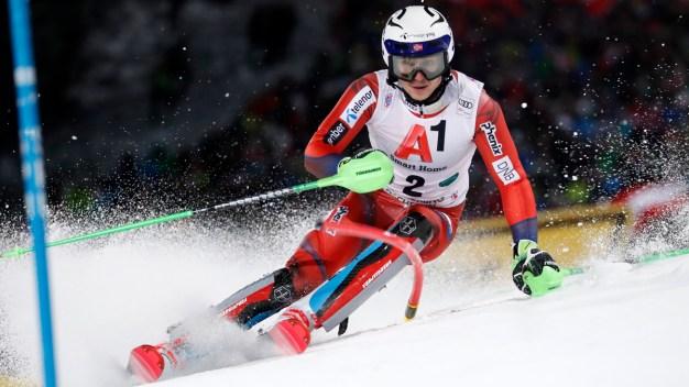 Hirscher Beats Kristoffersen in Race With Snowball Incident