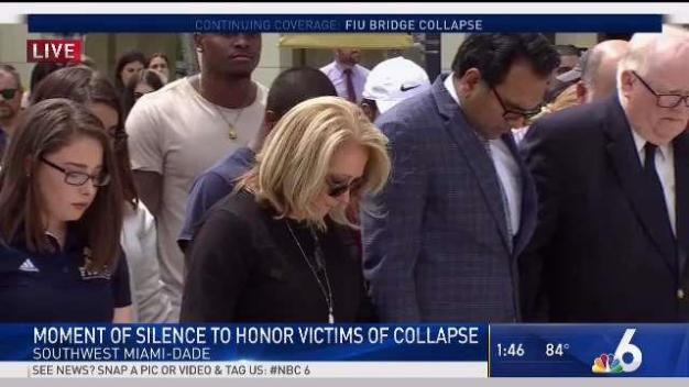 Moment of Silence for Bridge Collapse Victims at FIU