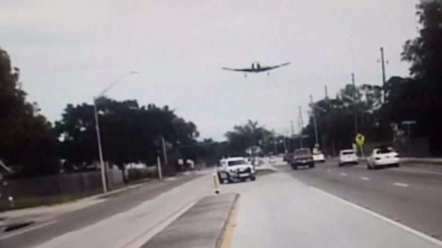 Plane Makes Emergency Landing on Busy Florida Street