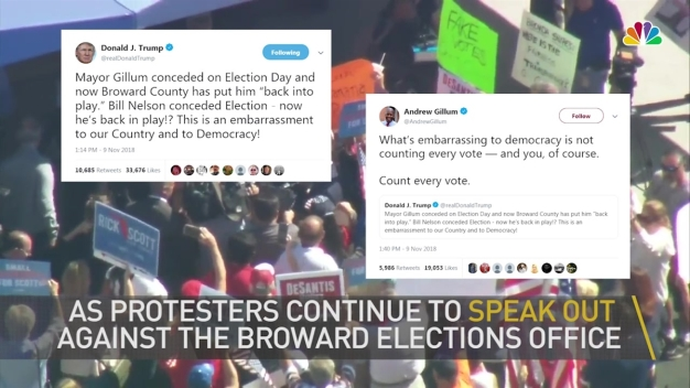 'Lock Her Up': Protesters Outside Broward Elections Office