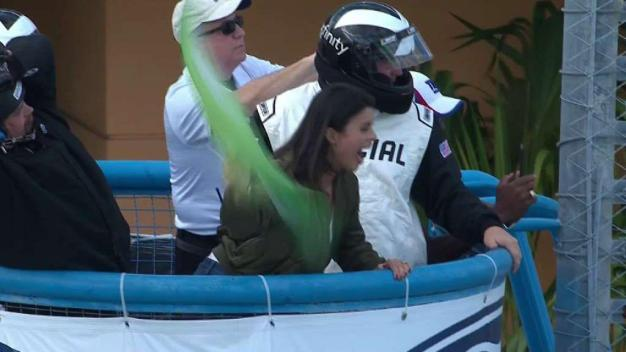 Roxy Revs Up Start of NASCAR Race at Homestead
