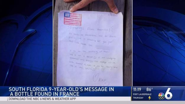 South Florida Girl's Message in a Bottle Found in France