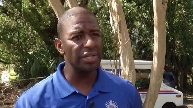 Gillum Stops Campaign, Responds to Tallahassee After Michael