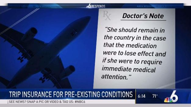 Trip Insurance May Cover Your Pre-Existing Condition
