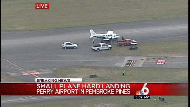Small Plane Makes Hard Landing at North Perry Airport